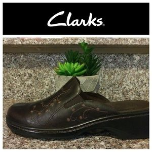 Clarks Leather Clogs Mules Slide On Shoes